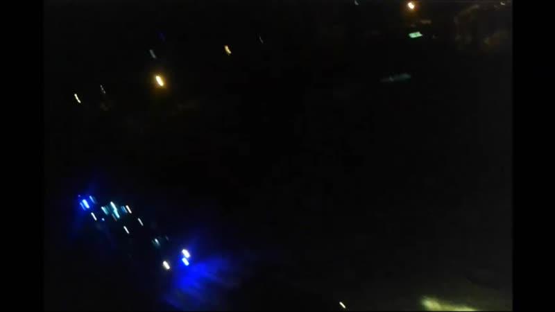 Ночной пожар от 606 на ул.Ильина 20(11 машин)