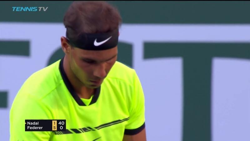 Indian Wells 2017 R4 HD - R.Federer vs R.Nadal Highlights