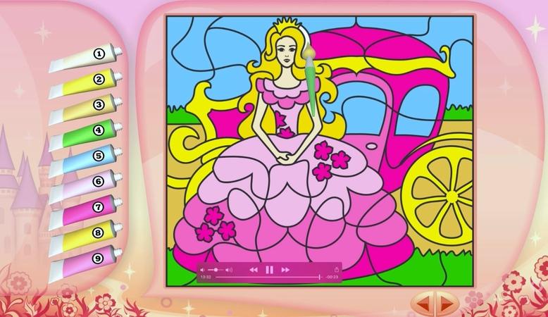 Детские раскраски для девочек под музыку.