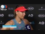Maria Sharapova Interview Australian Open 3R
