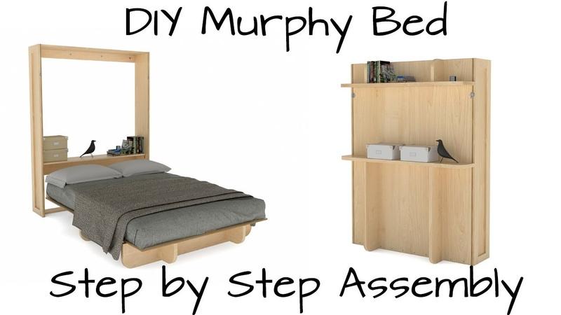 DIY Murphy Bed | Lori Wall Beds Wood Kit Assembly - YouTube