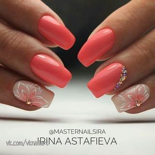 Красные Матовые Ногти Дизайн