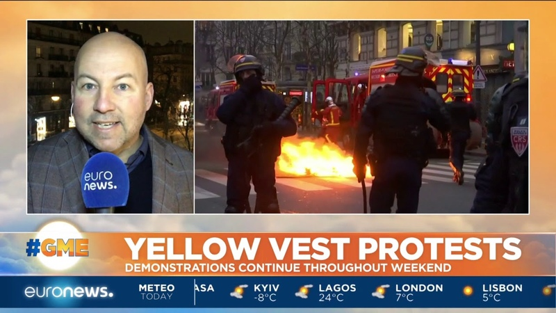 Yellow Vest protests continued throughout the weekend in France GME
