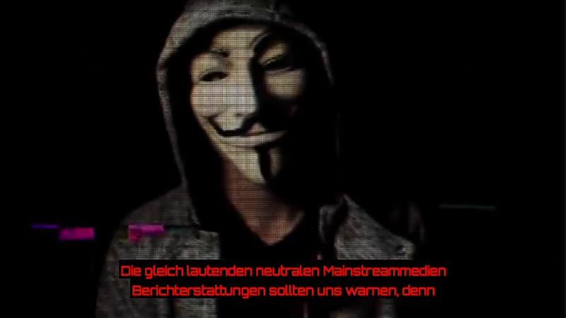 Anonymous Revolution Warnung vor Gelbe-Westen Bewegung Seid friedlich un