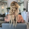 """Heather Chapman Hair on Instagram Boho prep then make it all cute finish with @sexyhair Powder Play Lite for a peaced out"""" ✌️🌴🌻 matte vibe"""