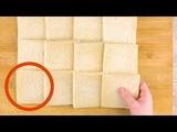 Раскатываем 12 ломтиков хлеба скалкой. Результат - пальчики оближешь!