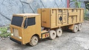 Wow dc motor container truck with cardboard
