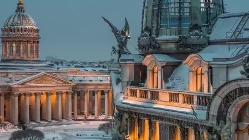 В Петербург постепенно приходит зима ️ - Город превращается в волшебную зимнюю сказку