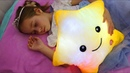 Twinkle Twinkle Little Star, Little girl Sofia plays with Favorite toys