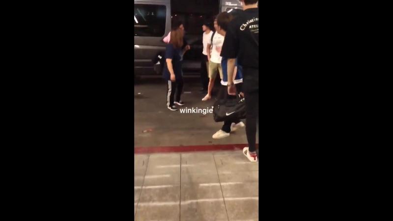 [VK][180815] MONSTA X fancam @ Los Angeles International Airport