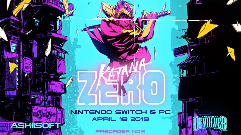 Katana ZERO трейлер с датой релиза 18 апреля