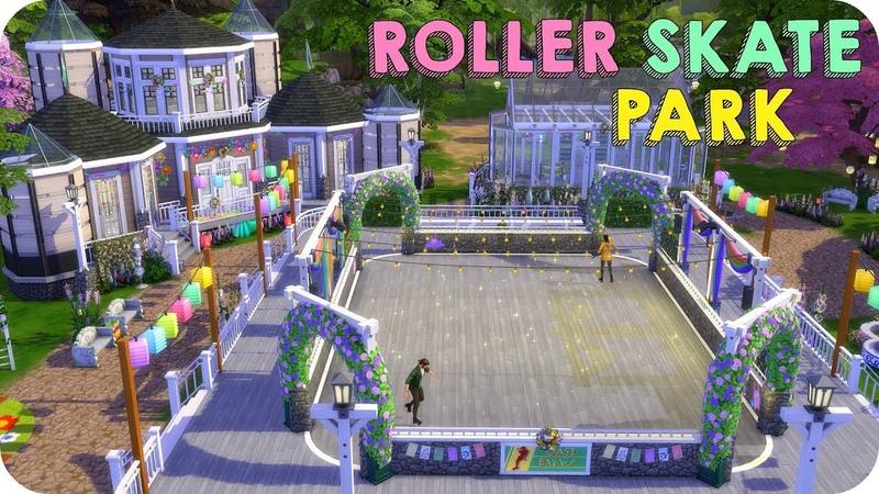 SPRING TIME ROLLER SKATE PARK   Sims 4 Seasons Speed Build
