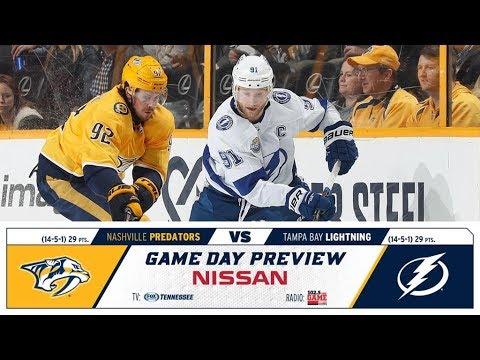 NHL 19 PS4. REGULAR SEASON 2018-2019: Tampa Bay LIGHTNING VS Nashville PREDATORS. 11.19.2018. (NBCSN) !
