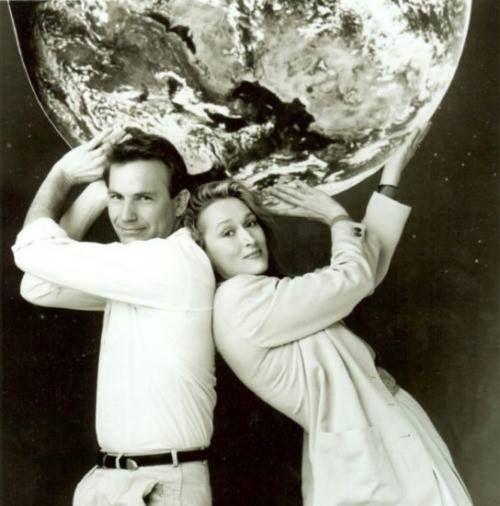 кевин костнер и мерил стрип в фотосессии ко дню земли 1990