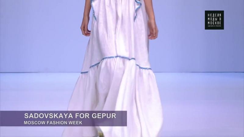 Неделя моды в Москве - Sadovskaya for Gepur_ новый взгляд на вечерние платья