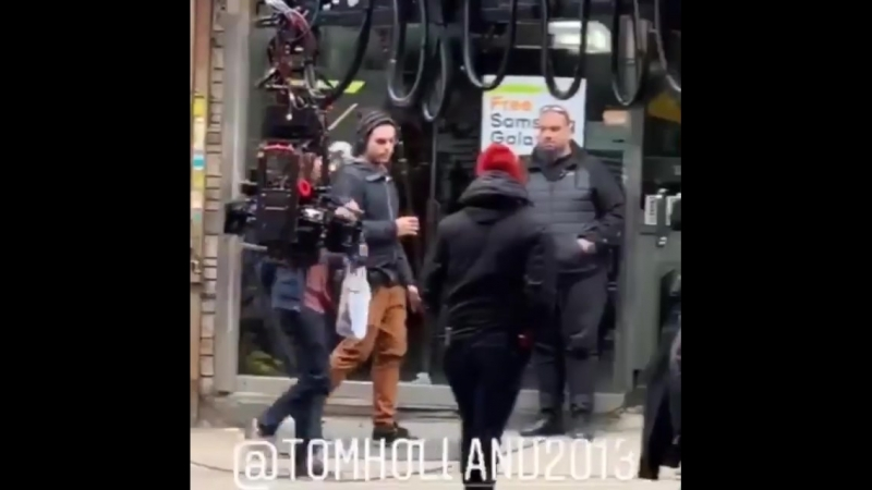 Съемки фильма Человек-Паук: Вдали от Дома в Нью-Йорке
