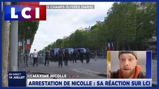 Maxime Nicolle réagit après son interpellation