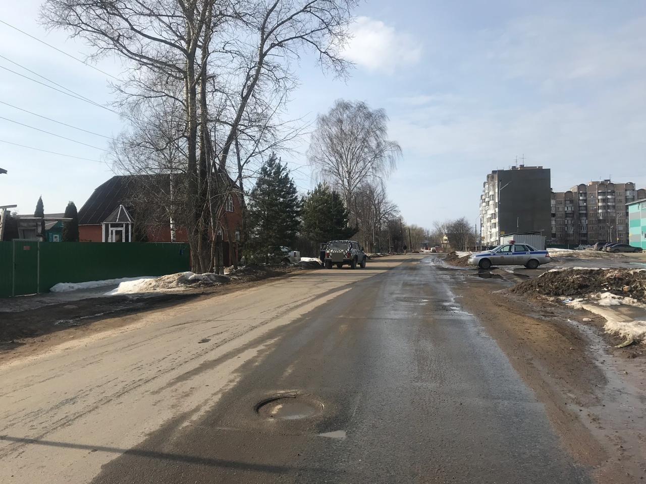 В Кимрах сбили женщину, идущую по обочине дороги улицы Троицкая