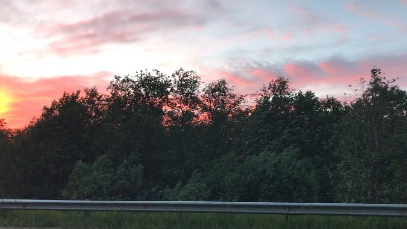 Закат над Ладогой