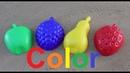 Учим цвета на английском языке для маленьких детей играем с формочками для песка яблоко Learn colors