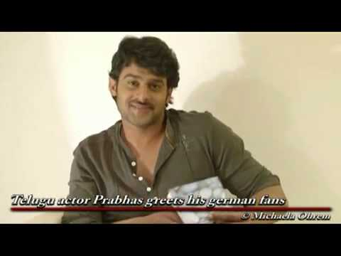 A Message from Prabhas to his German speaking fans prabhasofficial com