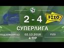 Обзор игры Подзембургаз Fizo 4 тур Суперлига 2018 19