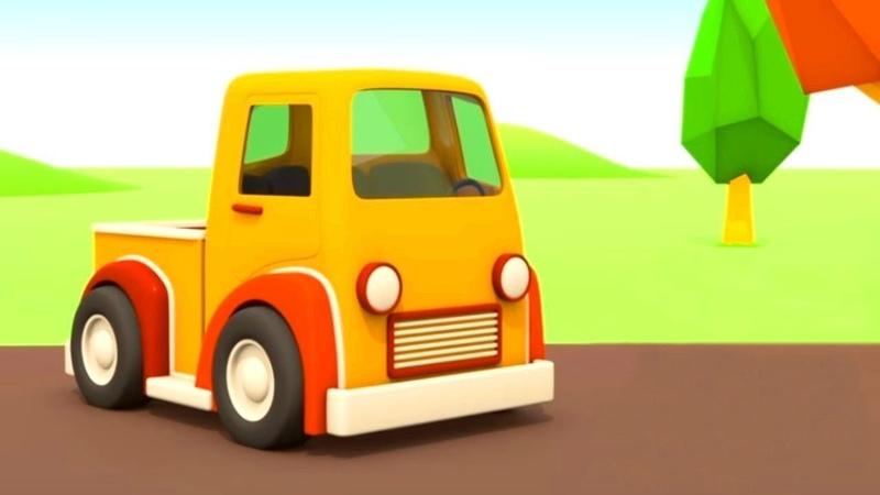 Vehículos de servicio. El nuevo garaje. Dibujos animados de coches.