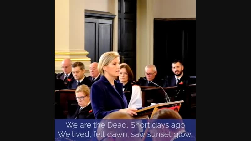 In Flanders Fields_Read by the Countess of Wessex Sophie_2018