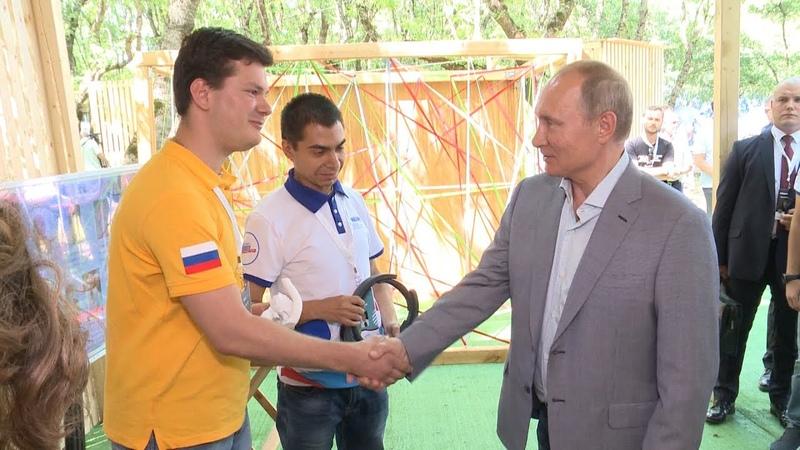 Владимир Путин посетил Северо-Кавказский форум Машук в Пятигорске.