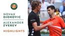 Novak Djokovic vs Alexander Zverev Quarterfinals Highlights Roland Garros 2019
