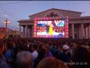 Концерты с дворцовой площади, дублируют на других экранах ..