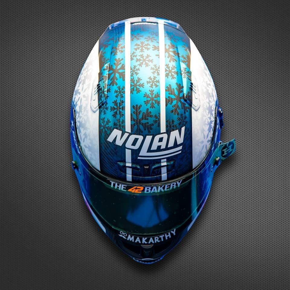 Тесты MotoGP 2018 в Валенсии. Мотошлемы (фото)