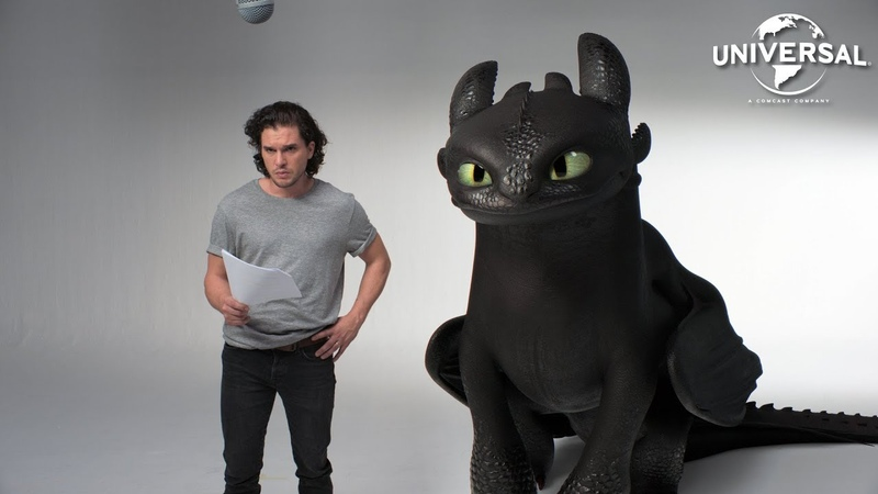 HOW TO TRAIN YOUR DRAGON THE HIDDEN WORLD | Kit Harington and Toothless' Lost Audition Tapes