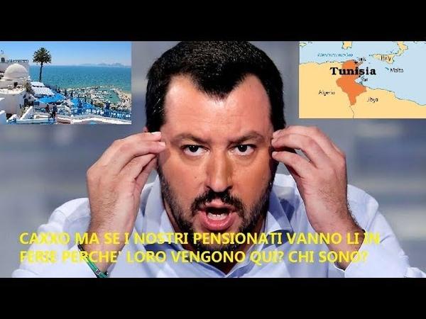 MIGRANTI,LA TUNISIA FREDDA SALVINI.:NON LI VOGLIAMO...PUZZA...MA COME SONO TUNISINI O NO? MA...