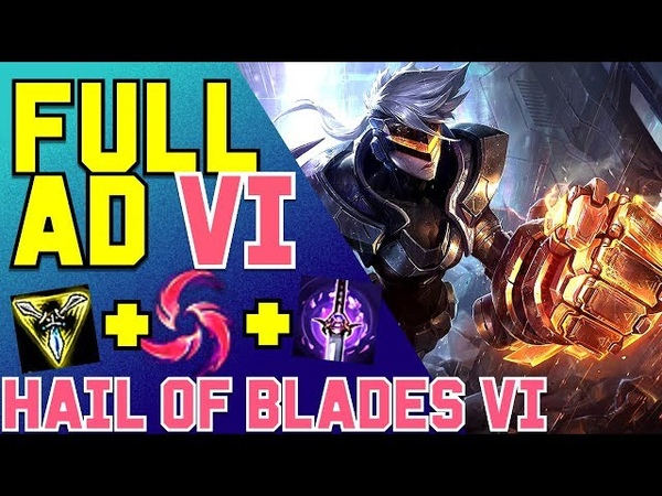 ITA Hail of Blades Vi Jungle Build per Vi con Pioggia di Lame è forte League of Legends