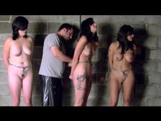 3 Girl Naked Chain Gang