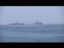 Стрельба по плавающим мишеням на конкурсе Кубок моря-2018 в Каспийском море