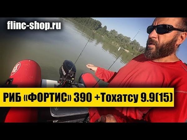 ТЕСТ на воде РИБ Фортис 390 Тохатсу 9 9 15 TEST on water RIB Fortis 390 Tohatsu 9 9 15
