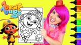 Coloring Beat Bugs Buzz Crayola Coloring Page Prismacolor Markers KiMMi THE CLOWN