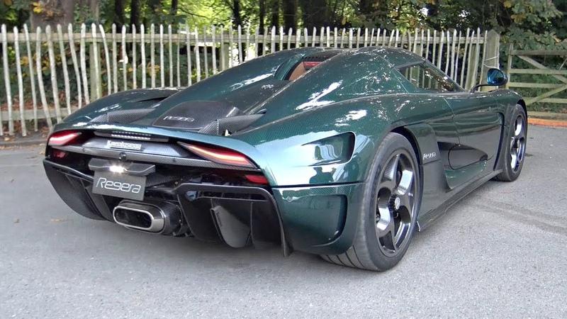 Green Carbon Koenigsegg Regera Start Up, Accelerations Exhaust Sound @ Goodwood!