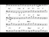 Walking bass line, Confirmation (P. Heath, L. Vinegar, C. McBride transcriptions)