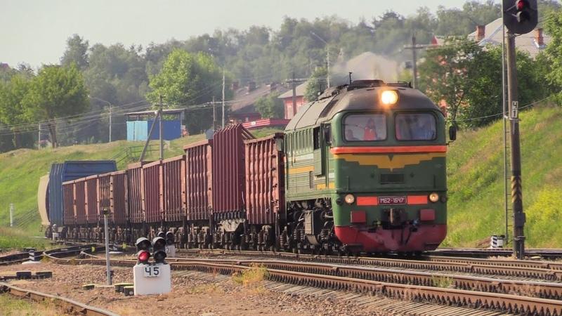 [БЧ] Тепловоз М62-1647 на ст. Мозырь [BCh] M62-1647 at Mozyr station