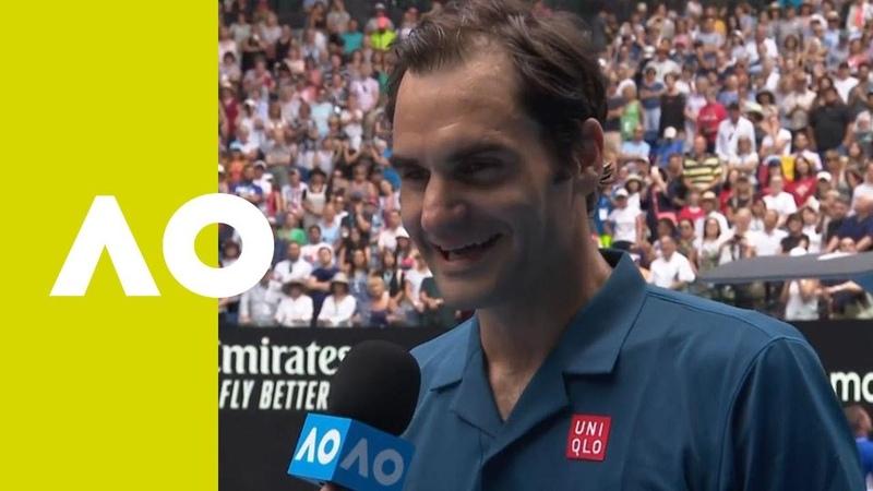Roger Federer on-court interview (2R)   Australian Open 2019