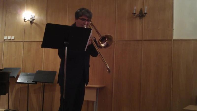 Д В Яковлев Концерт для тромбона №1 часть 1