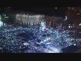 31 грудня 2013 року за клька хвилин до Нового року на Майдан до 500 тисяч людей заспвали Гмн Украни.