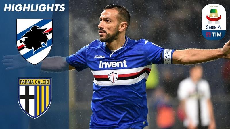 Sampdoria 2-0 Parma   Sesto gol di fila per Quagliarella!   Serie A