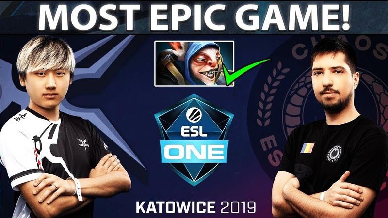LONGEST AND MOST EPIC GAME OF ESL ONE KATOWICE 2019 - Surprise Meepo Pick! Mineski vs Chaos - Dota 2