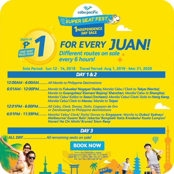 Распродажа билетов от Cebu Pacific — полеты по Азии почти бесплатно!