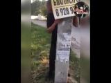 В стельку пьяный мужик держал столб, который, по его словам, вот-вот должен был упасть...