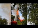 Огонь уничтожил уникальную Успенскую церковь в Карелии